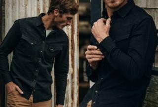 Camisa Preta Estilo Americana - TAYLOR STITCH WESTERN SHIRT