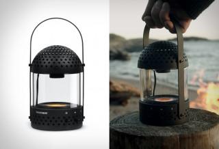 Lanterna de vidro com alto-falante - Light Speaker