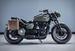 Moto Comemorativa - Triumph Bonneville VE Day Commemorative Bike