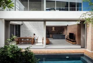 Duas casas na Aldeia de Nichada - Tailândia