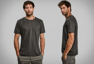 Camiseta Exclusiva Feita com Polpa de Madeira - Vollebak Black Algae T-Shirt