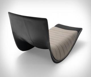 Cadeira de balanço Zanotta Rider Rocking Lounge - Imagem - 4
