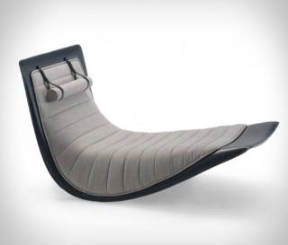 Cadeira de balanço Zanotta Rider Rocking Lounge - Imagem - 2